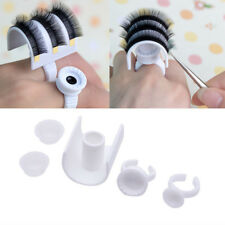 Plastic 5pc Wonder Eyelash Extension Glue Ring Adhesive Pallet Strip Holder Set