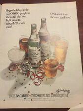 RARE BACARDI Rum RETRO Magazine Print AD 1966 original vintage Bar advertising