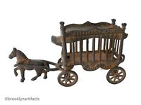 Vintage Replica American Cast Iron Overland Circus Horse Pulled Toy - JM Iron