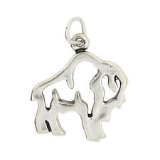 STERLING SILVER BUFFALO FRAME CHARM PENDANT