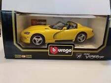 Burago 1993 Dodge Viper RT/10 1:18 Scale - Yellow