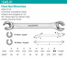 Whirlpower - Flare Nut Wrench, Satin Finish 24x27mm - Automotive Tools NEW