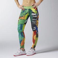 Reebok Womens Crossfit Chase Mixup Reversible Tight Gym Leggings AI 1286 L