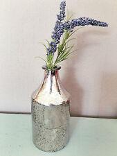 Mercury Glass Silver Bud Vase Bottle, Vintage Wedding Decoration, Gisela Graham