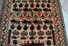 Afghan war rug in the memory of soviet union war (hand knotted rug)