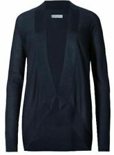 BRAND NEW PER UNA M&S NAVY FINE KNIT OPEN FRONT LOOSE FITTING CARDIGAN SIZE 12