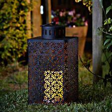 Rústico marroquí funciona con pilas Colgante LED FAROL DE VELAS