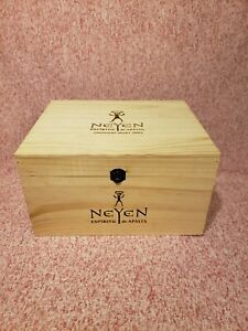Neyen Wine Crate Wooden 3 Bottle With Hinged Lid