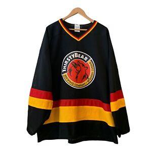 Vintage Thirsty Bear Brewing Company Ice Hockey Jersey Size XL