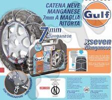 CATENE DA NEVE -120- GULF IN MANGANESE 7 MM ANCHE AUTO NON CATENABILI- 235/50-17