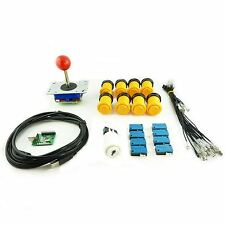Kit Joystick Arcade 1 player Button American Yellow Card USB Mame usb