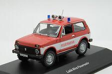 Rare !! Lada Niva Fire Germany Ixo Ist CCC049 1/43