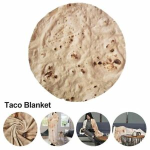 Burritos Throw Blankets Soft Warm Flannel Tortilla Throw Blanket For Bed Fleece