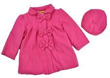 Penelope Mack Toddler Girls Rasberry Part Wool Jacket W/Hat Size 2T