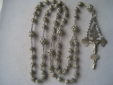 Silber filigraner Rosenkranz aus echt Silber mit 2 Punzen und Tremulierstrich