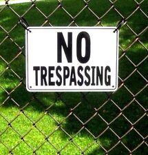 ''No Trespassing'' Signs, Metal 3 Sign Set Brand New