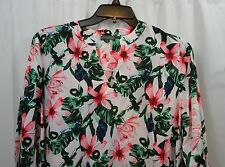 Women's Vince Camuto Floral 3/4 Sleeve  Shirt 1X