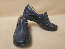 Clarks Unstructured Mens Shoes Size 9 M Black Slip On