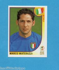 KOREA/JAPAN 2002-PANINI-Figurina n.463- MATERAZZI -ITALIA-NEW BLUE BACK