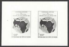 Ivory Coast #734-35 1985 Rotary International composite photographic proof