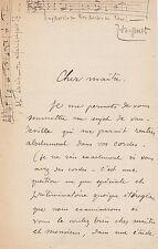 Jules MASSENET - Lettre autographe signée
