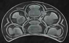 Authentic Lalique Chardon Crescent Thistle Dessert or Salad Plate LJ2