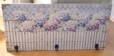 Garderobe Handtuchhalter, HORTENSIE, 3 Haken, Holz, Landhaus Shabby, 60 x 28 cm