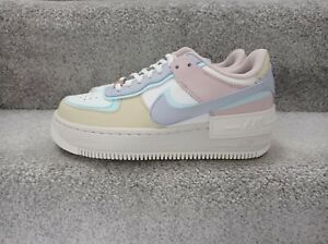 Nike Air Force 1 Shadow Pastel White Trainers New Women's Size UK 3.5
