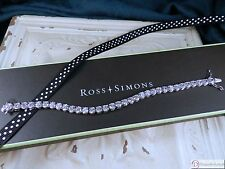 "Ross Simons CZ Tennis Bracelet ~ 7"" Sterling Silver  ~ 14.85 CT TW"