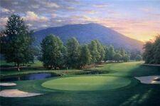 "Larry Dyke ""Sunset at the Seventh- Upper Cascades, The Homestead"" LTD ED S/N COA"