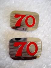 2 EMBLEM SIDE COVER HONDA  70 C70 // A pair