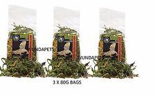 3 X 80G Barbudo Dragón de Komodo secos Diente de León Caléndula & Rose LEAF Mix 83230