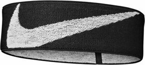 Nike Sports Logo Knit Elastic Hairband -  Black/White