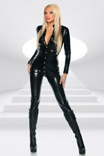 Manches longues wetlook-CATSUIT avec boutons pression * taille 34 36 38 * COMBISHORT Overall
