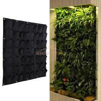 Green Vertical Garden Planter Wall-mounted Planting Flower Grow Bag 56 Pocket