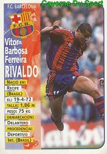 025 RIVALDO BRAZIL ESPANA FC.BARCELONA STICKER LIGA 98-99 PANINI