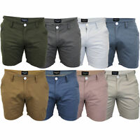 Mens Chino Shorts Brave Soul Smith Roll Up Cotton Half Pants Casual Summer New