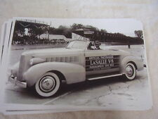 1937 CADILLAC LASALLE  INDY 500 PACE CAR   11 X 17  PHOTO   PICTURE