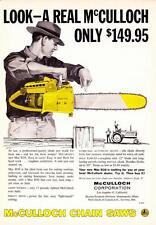 Vintage ad Mc Culloch Chain Saws 1959 Mac D30 Man Cave Art!
