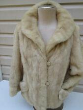Vintage Women's Douglas Furs BLONDE Real Mink Jacket Evening Formal Coat  S-M