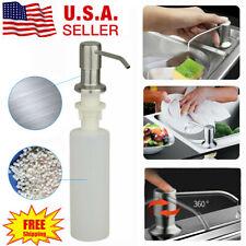 New 300ML Kitchen Sink Soap Dispenser Stainless Steel Hand Liquid Pump Bottle