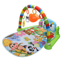 Baby Gym Play Mat Lay & Play 3 in 1 Fitness Music And Lights Fun Piano Set