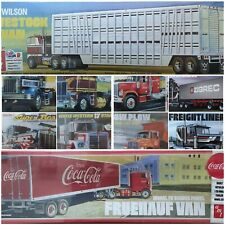 AMT 1/25 Trucks & Trailers New Plastic Model Kit Truck Trailer 1 25