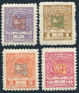 Paraguay 341-3445,hinged.Mi 455-459. The founding of Asuncion,400th Ann.1937.Arm