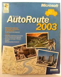 Microsoft AutoRoute 2003 - Windows XP Western Europe Map Software (Big Box)