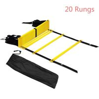 20 Rungs Speed Agility Ladder Soccer Football Fitness Feet Training Exercise 32'