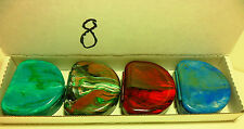 4 Random Colors Denture Retainer Cases - Slight Surface Blemishes - NO LABELS