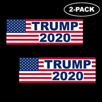 TRUMP 2020 Bumper Sticker Decal Political Republican Flag Vinyl Window 2-PACK