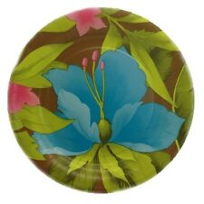 "8 Tropical Tiki Blossoms Large 10"" Hawaiian Party Paper Plates"