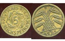 ALLEMAGNE 5  reichspfennig  1925 E  ( bis )